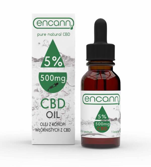 Olej konopny 5% CBD ENCANN