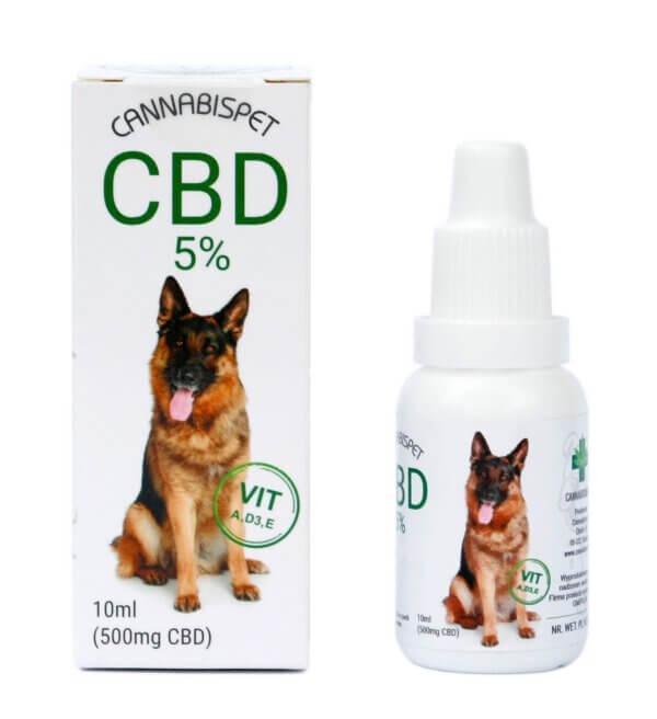 Olejek CBD dla zwierząt 5% CannabisPet