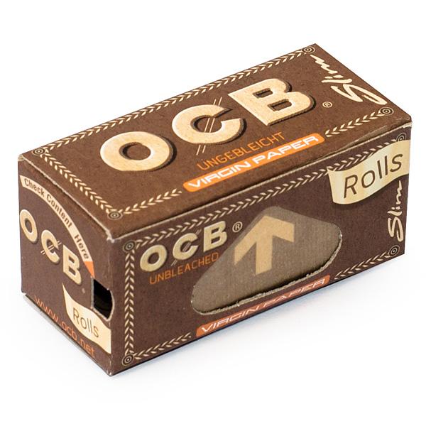 Bibułki OCB Virgin Brown Slim Rolls