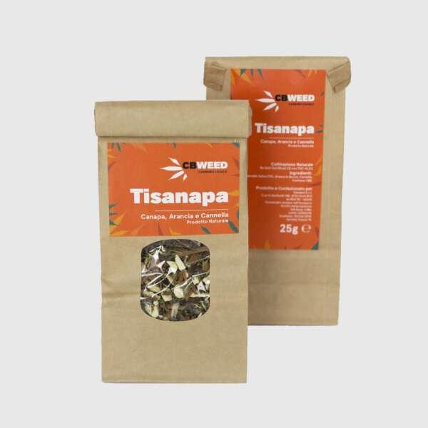 Tisanapa herbatka konopna z dodatkiem pomarańczy i cynamonu 25g