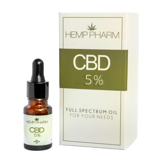 Olej Konopny 5% CBD Hemp Pharm
