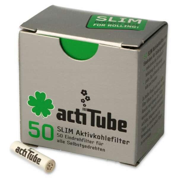 Filterki z węglem aktywnym ActiTube Slim Box 50szt. 7mm